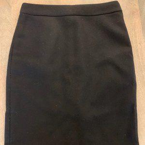 J. Crew Double Serge Wool Pencil Skirt, Sz 2P